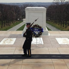 Photo taken at Tomb of the Unknowns by Lawrence R. on 4/4/2013