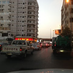 Photo taken at شارع فلسطين تقاطع المدينة by Mohammed A. on 6/10/2013