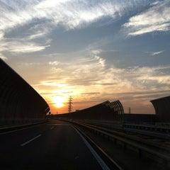 Photo taken at 三郷JCT by Däisuke K. on 7/12/2014