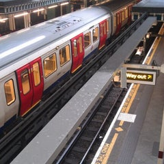 Photo taken at Aldgate London Underground Station by Matt C. on 10/23/2012