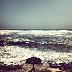 Photo taken at Playa Señoritas by Sebastian S. on 4/13/2013