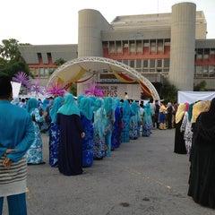 Photo taken at Dataran Panggung Seni UKM by Baiyah A. on 1/16/2014