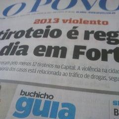 Photo taken at Rádio O POVO CBN Fortaleza FM 95.5 by Gustavo A. on 1/11/2013