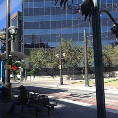 Photo taken at Pearl/Arts District Station (DART Rail) by Pam V. on 10/19/2012