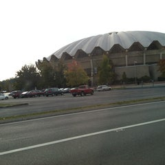 Photo taken at WVU Coliseum by John M. on 10/14/2012