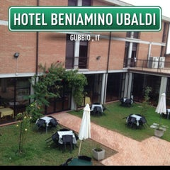 Photo taken at Hotel Beniamino Ubaldi by Luca D. on 8/30/2013