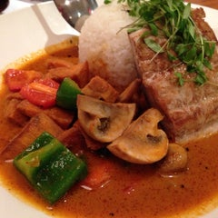 Photo taken at Wagamama by Kathryn J. on 3/14/2014