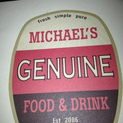 Photo taken at Michael's Genuine Food & Drink by Mari d. on 2/10/2013