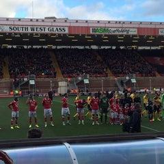 Photo taken at Ashton Gate Stadium by Martin N. on 2/14/2015