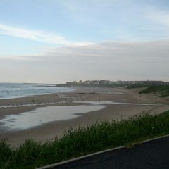 Photo taken at Cullercoats Beach by Saleh A. on 6/3/2013