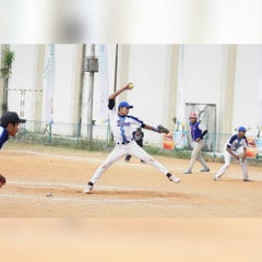Photo taken at Lapangan Softball / Baseball Lodaya by Albiantoro I. on 8/6/2015