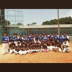 Photo taken at Lapangan Softball / Baseball Lodaya by Albiantoro I. on 5/17/2015