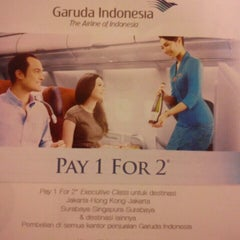 Photo taken at Garuda Indonesia Sales & Ticketing Office by Andre I. on 2/25/2014