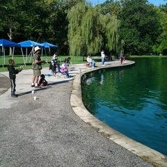 Photo taken at Rockefeller Park by Justin R. on 9/15/2012