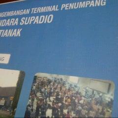 Photo taken at Supadio International Airport (PNK) by Basuki H. on 11/19/2012