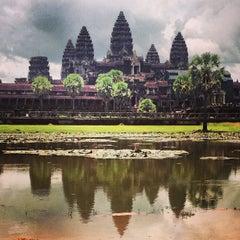 Photo taken at Angkor Wat Temple (អង្គរវត្ត) by Joanna T. on 8/9/2013