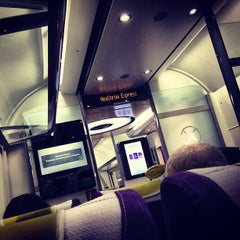 Photo taken at Heathrow Express Train - Paddington [PAD] to Heathrow [HXX] by Simon S. on 3/3/2013
