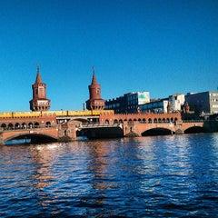 Photo taken at Oberbaumbrücke by Luis Enrique P. on 7/21/2013