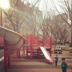 Photo taken at Washington Market Park by Sean W. on 4/11/2013