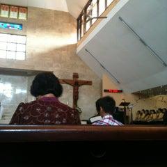 Photo taken at Gereja Katolik Salib Suci by Viky H. on 4/14/2013