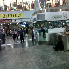 Photo taken at Orchard MRT Station (NS22) by Oloan S. on 10/5/2012