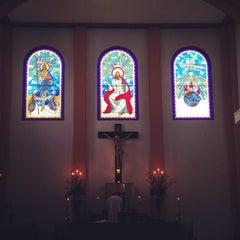 Photo taken at Gereja Katolik Kristus Raja by Ivan L. on 3/9/2014