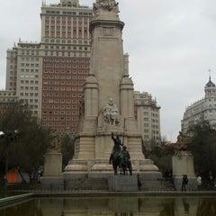 Photo taken at Plaza de España by Goetz G. on 2/19/2013