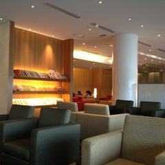 Photo taken at Cathay Pacific First and Business Class Lounge by Akira S. on 4/27/2013