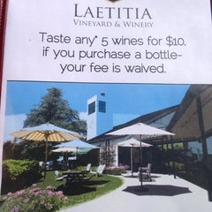 Photo taken at Laetitia Vineyard & Winery by Dwight W. on 8/5/2013