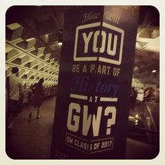 Photo taken at Foggy Bottom-GWU Metro Station by Adina L. on 4/11/2013