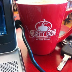 Photo taken at Mighty Good Coffee by Ankur S. on 2/13/2013