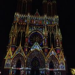 Photo taken at Cathédrale Notre-Dame de Reims by Sebnem T. on 7/12/2013