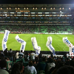 Photo taken at Territorio Santos Modelo Estadio by Hiram A. on 1/12/2013