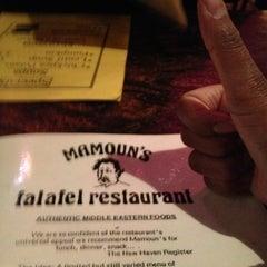 Photo taken at Mamoun's Falafel Restaurant by Kat on 2/24/2013