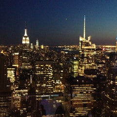 Photo taken at Top of The Rock Observation Deck by Lena P. on 4/27/2013