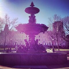 Photo taken at Fontaine de Tourny by HanBi K. on 11/10/2012