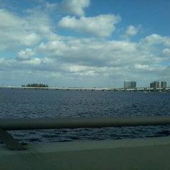 Photo taken at Caloosahatchee Bridge by Ryan M. on 1/29/2013