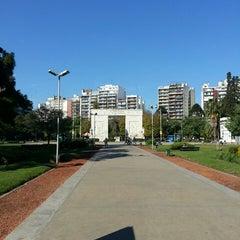 Photo taken at Parque Rivadavia by Fernando C. on 5/21/2013