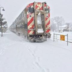 Photo taken at Metra - Deerfield by Chris V. on 3/12/2014