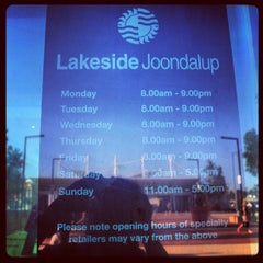 Photo taken at Lakeside Joondalup Shopping Centre by Irsani Kamila W. on 2/16/2013