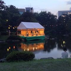 Photo taken at 旧安田庭園 by Bohyun on 8/2/2015