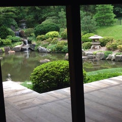 Photo taken at Shofuso Japanese House and Garden by Andrew K. on 7/18/2015
