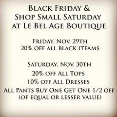 Photo taken at Le Bel Age Boutique by Le Bel Age Boutique on 11/27/2013
