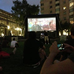 Photo taken at Prudential Center Courtyard & Garden by Alejandro G. on 9/3/2013