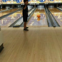 Photo taken at Buffaloe Lanes North Bowling Center by Jorge N. on 8/27/2015
