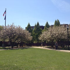 Photo taken at DePaul University Quad by Alexx M. on 5/13/2013