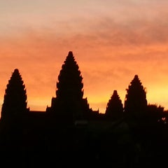 Photo taken at Angkor Wat Temple (អង្គរវត្ត) by Sarah K. on 12/15/2012