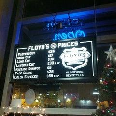 Photo taken at Floyd's 99 Barbershop by Carlos D. on 12/30/2012
