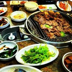 Photo taken at Shin Chon Garden Restaurant by Andrew E. on 7/1/2013