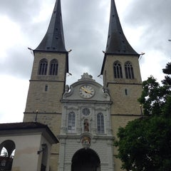 Photo taken at Hofkirche by Sebastian P. on 7/21/2014